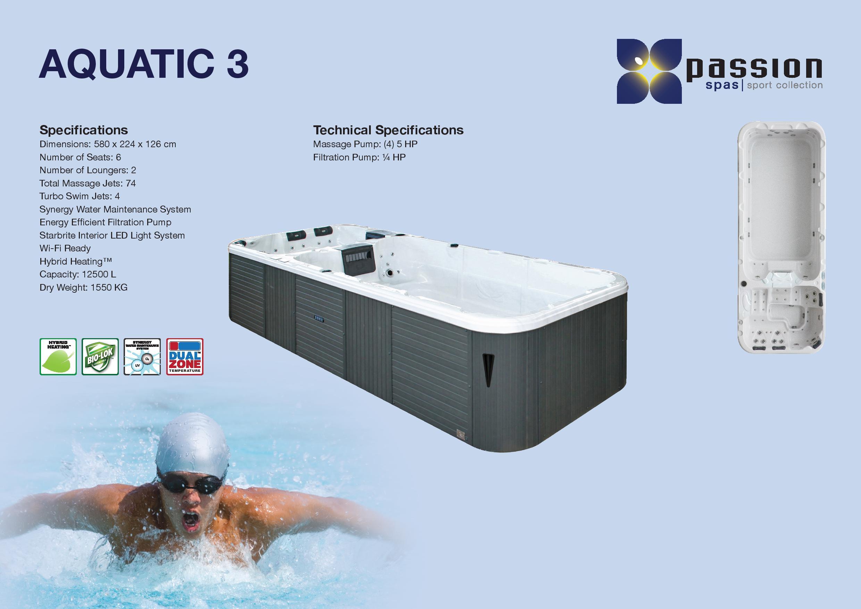 SwimSpa Aquatic 3 Deep - The Hot Tub Warehouse