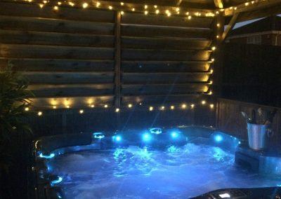 hot tub fairy lights